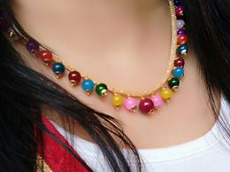 Super Shop Multi Color Pearl Mala Chain For Woman