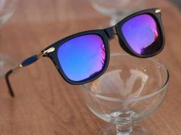 Branded Unisex Wayfarers Light Blue Lens Sunglasses