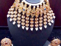 Naina creations handcrafted Kundan set