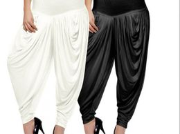 Navrang Combo Of Black White Harem Pant Set