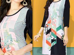 Designer Fancy Kurti Semi Formal with casual look