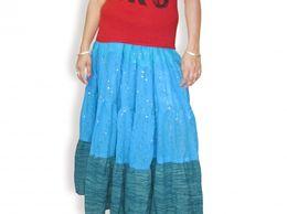 Georgette Bubble Long Skirt