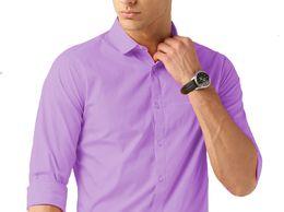VanGalis Fashion Wear Purple Formal Shirt For Men