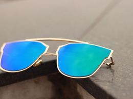 Royal C-018 Gold to Blue - Green Sunglasses