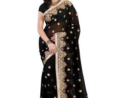 Royal Creation Black C Pallu Designer Saree