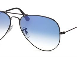 Blue Shed Black Frame Aviator Sunglasses