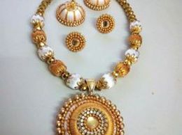 Silk thread jewellery set with elegant design in reasonable prize