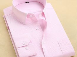 Pink Attractive Cotton Formal Shirt