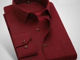 Red Plain Cotton Summer Collection Formal Shirt