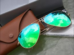 Green Mercury Golden Frame Goggles With Box