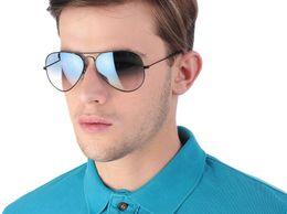 Professional Sunglasses Aviator Blue Shade Black Frame_039