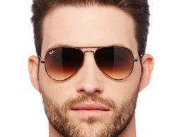 Professional Sunglasses Aviator Brown Shade Brown Frame_009