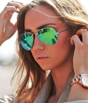 Sunglasses Golden Mercury AViator Goggles For WOmen