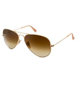 Sunglasses Aviator Brown Glass Golden Frame for Women