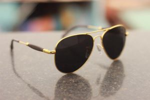 Sunglasses Aviator Black Glass Golden Frame    3517 SUNGLASSES