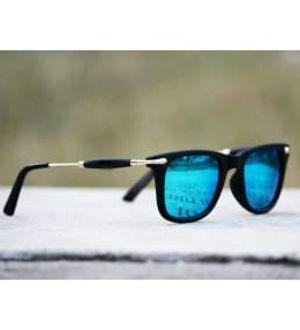 Fancy trendy Square Aqua Blue Goggles Sunglass for men