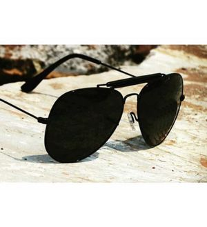 Fancy Aviator Bridge Black Black Bar Frame 3422 Sunglasses