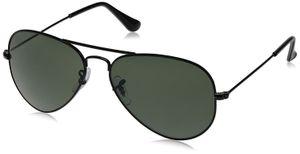 Sunglasses Aviator Black Glass black Frame for Men