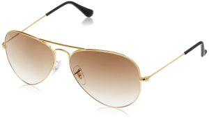 Sunglasses Aviator Brown Shade Golden Frame for Women