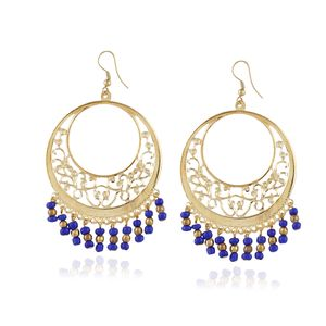 Aradhya Gold Plated Metallic Purple Beads Earrings Jewellery Gift For Women and Girls
