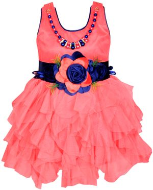 Cute Fashion Kids Girls Baby Dress for Princess Satin and Sifone Net Party Wear Frock Dresses Clothes for  12 - 18 Months