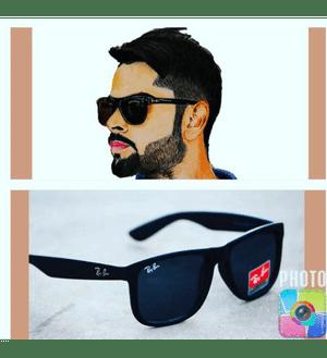 Ray Ben Royal American Full Black Black Wayfarer Fancy Sunglasses for men women Ban Goggles