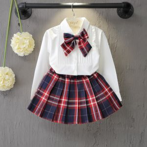 Cute Plaided Skirt With Designer Top 2 Piece Set