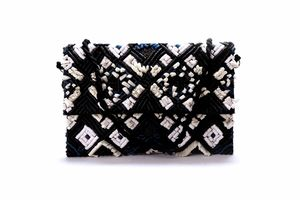 Diwaah Hand crafted black embroidered clutch