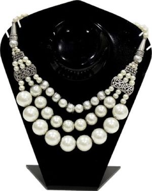 Fedexo Beautiful White Big Pearl Necklace