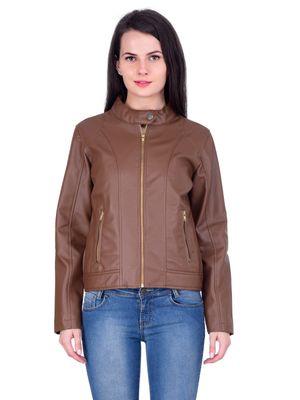 Women Leather jacket jk163b