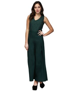V&M Green Lace Jumpsuit
