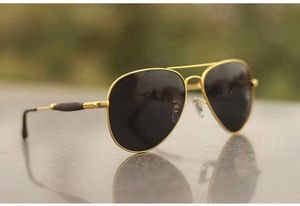 Gold and black branded sunglasses 01362