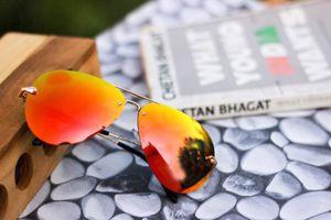 Gold and orange  stylish sunglasses