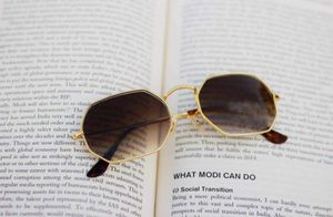 gold and brown stylish sunglasses 01431 free gift