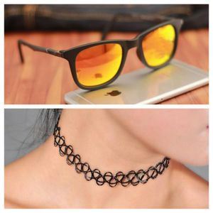 black and orange stylish sunglasses 01467 free gift