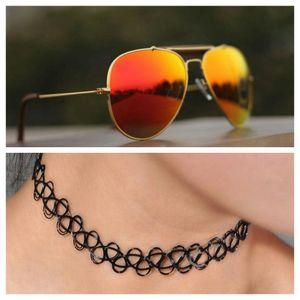 gold and orange stylish sunglasses 01475 free gift