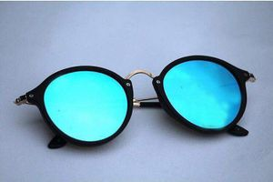 black and aque blue stylish sunglasses 01485 free gift