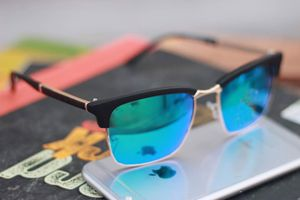Black and sky blue stylish sunglasses 1492