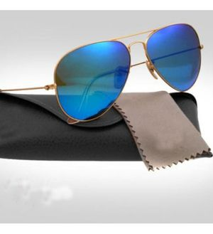 Gold and blue aviator stylish sunglasses