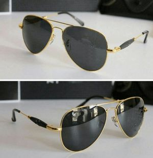 gold and black sunglasses for women with free gift 03090