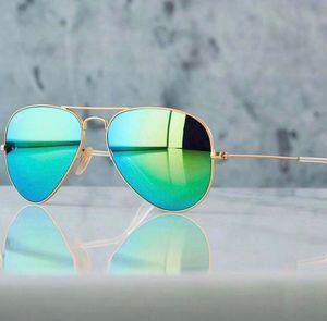 Gold and blue aviator stylish sunglasses
