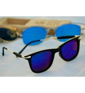 black and blue sunglasses with free gift and chokar