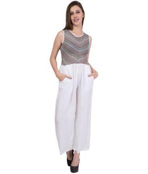 American-Elm Women's Printed Cotton Jumpsuit