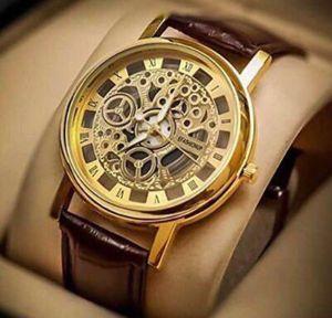 Men Leather Belt Superb Watch