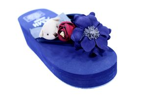 Hie'N'Buy New Teddy Wedge Heel Slipper For Girls BLUE