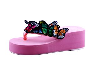 HIE N BUY BUTTERFLY FASHION VEG HEEL SLIEPPER FOR GIRLS PINK
