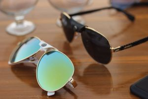 Golden and green new stylish sunglasses 3126