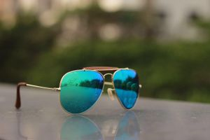 Golden and blue new stylish sunglasses  3344