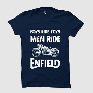 Uniplanet store Royal Enfield Navy Blue T Shirt