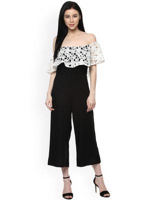 Designer Off Shoulder Lace Bardot Jumpsuit